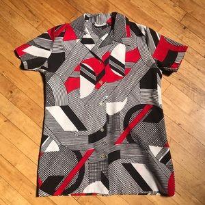 ◾️🔺 Funky Vintage Geometric Abstract Shirt 🔺◾️